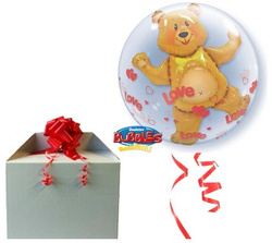 Helijev balon - Double bubble Love Bear