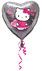 Balon srček - Hello Kitty
