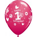 Balon HAPY 1. BIRTHDAY GIRL